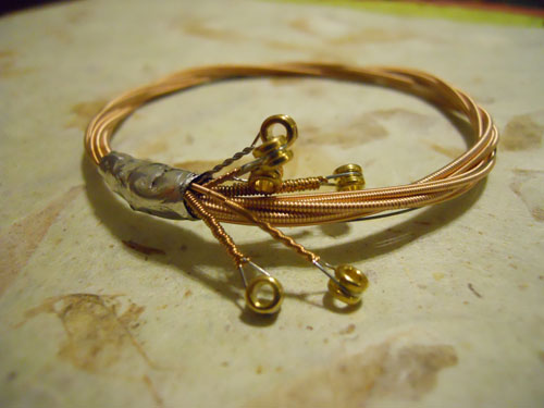 Guitar String Bangle Bracelet