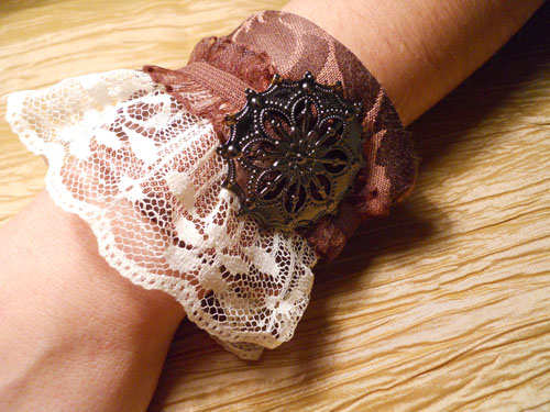 Laced Up Cuff Bracelet - Click Image to Close