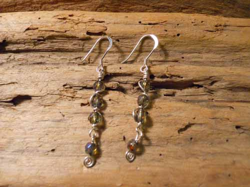 Shimmering Olive Earrings