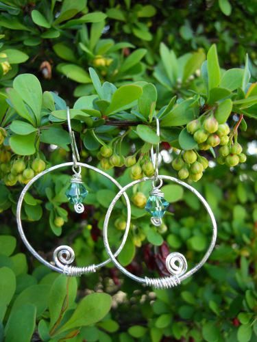 Swirl Wire Wrapped Earrings